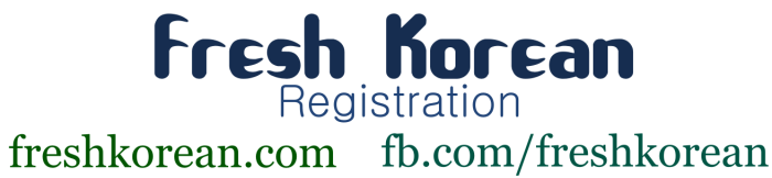 Fresh Korean Registration banner 1