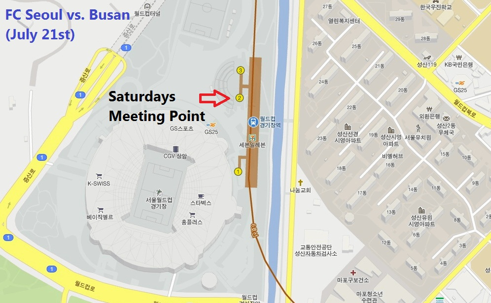 Seoul World Cup Stadium Meeting Point Map Fresh Korean