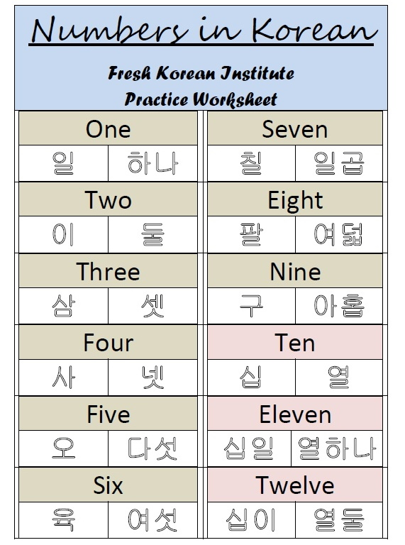 Printables Learning Korean Worksheets pdf fresh korean click
