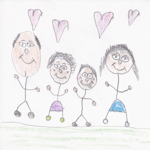 Introducing my family drawing - Fresh Korean