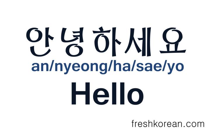 Hello in Korean - Fresh Korean