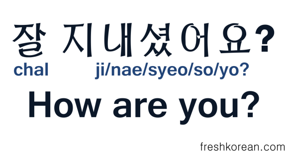 How Are You in Korean - Fresh Korean