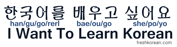 I want to learn korean - Fresh Korean