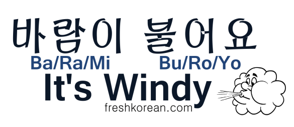It's Windy - Fresh Korean