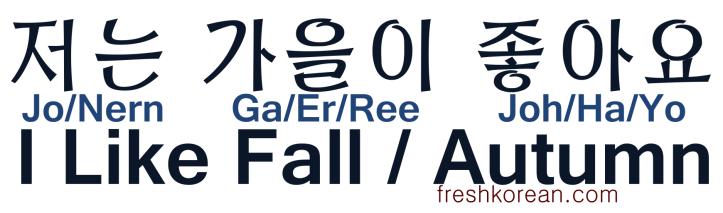 I like Fall Autumn - Fresh Korean
