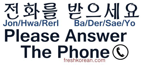 Please Answer the Phone - Fresh Korean
