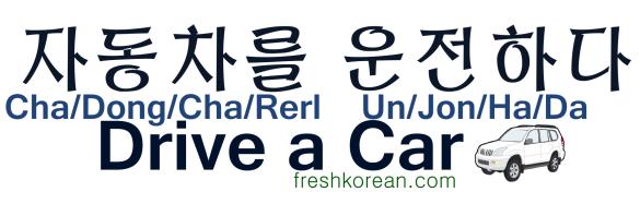Drive a Car - Fresh Korean