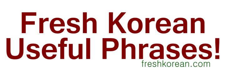 Fresh Korean Useful Phrases Banner
