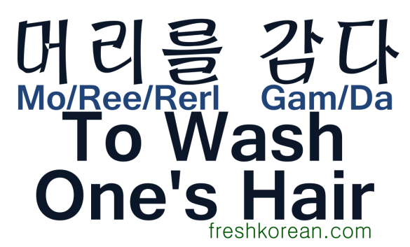 To Wash Ones Hair - Fresh Korean