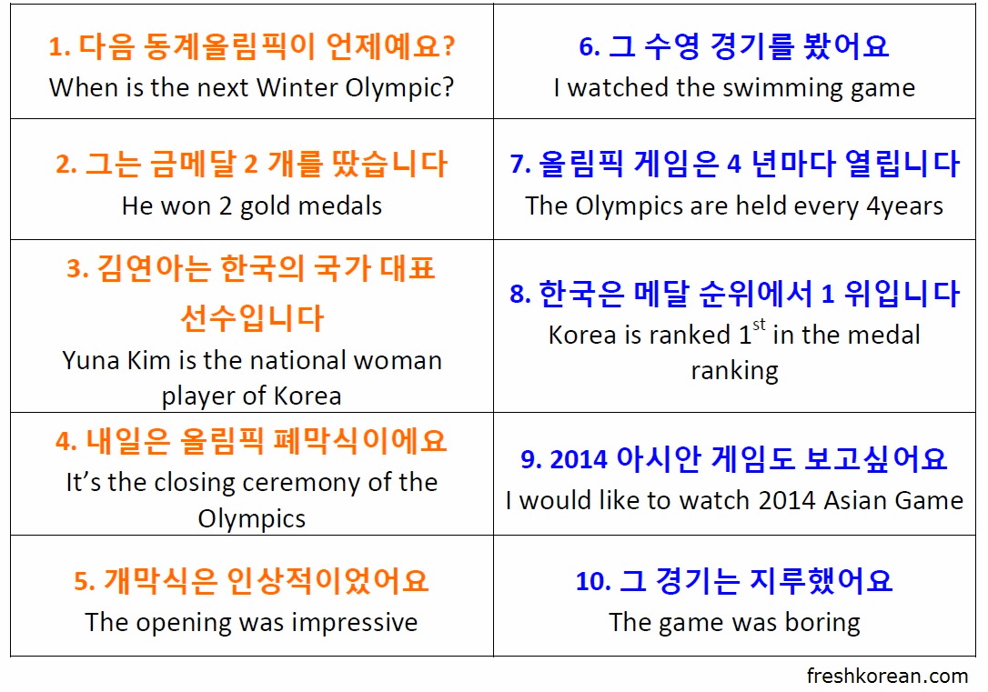 February 2014 fresh korean sochi 2014 winter olympic korean phrases m4hsunfo