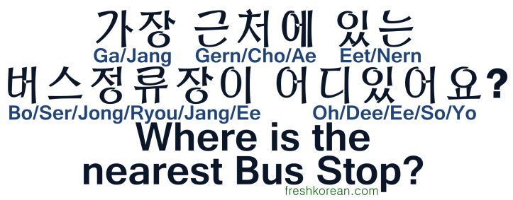 Where is the nearest Bus Stop - Fresh Korean