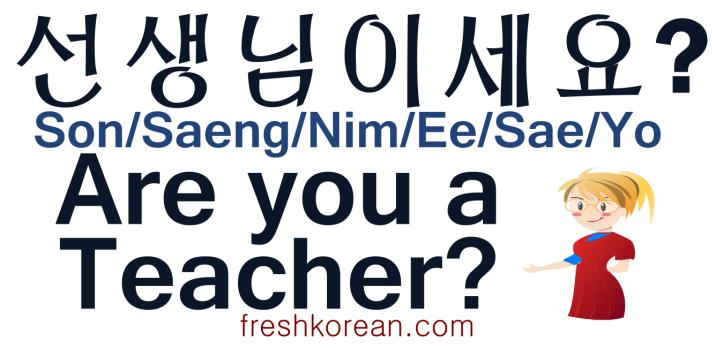 Are you a Teacher - Fresh Korean