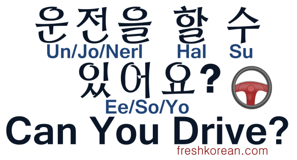 Can You Drive - Fresh Korean