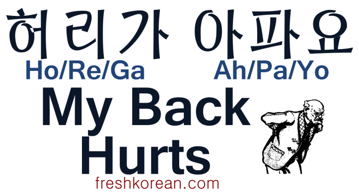 My Back Hurts - Fresh Korean
