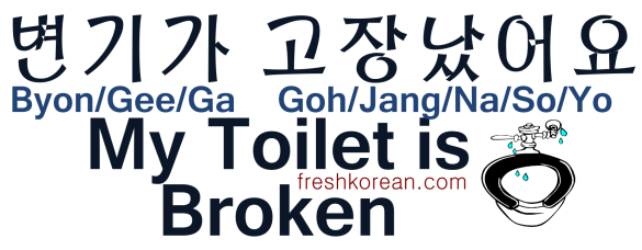 My Toilet is Broken - Fresh Korean