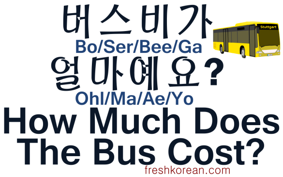 How Much Does The Bus Cost - Fresh Korean