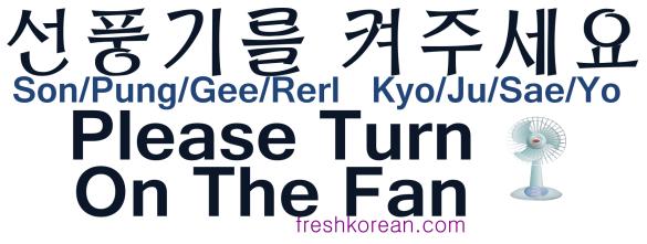 Please Turn On The Fan - Fresh Korean