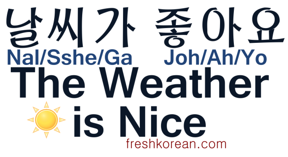 The Weather is Nice - Fresh Korean