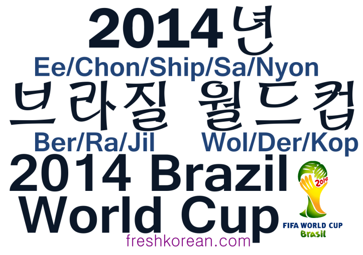 2014 Brazil World Cup - Fresh Korean