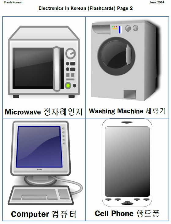 Electronics in Korean Flashcards 2
