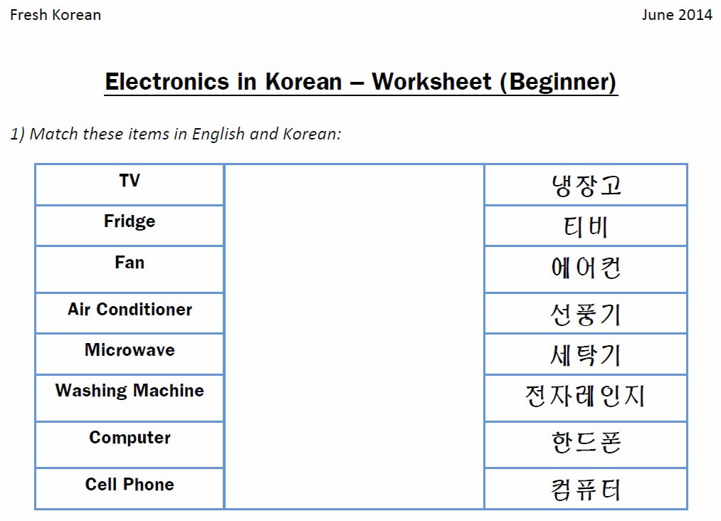 Worksheet Korean Worksheets For Beginners Pdf questions in korean fresh electronics worksheet q1