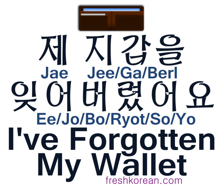 I've Forgotten My Wallet - Fresh Korean
