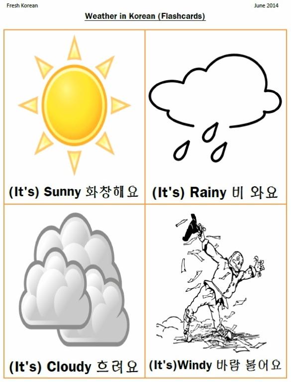 Weather Korean Flashcards