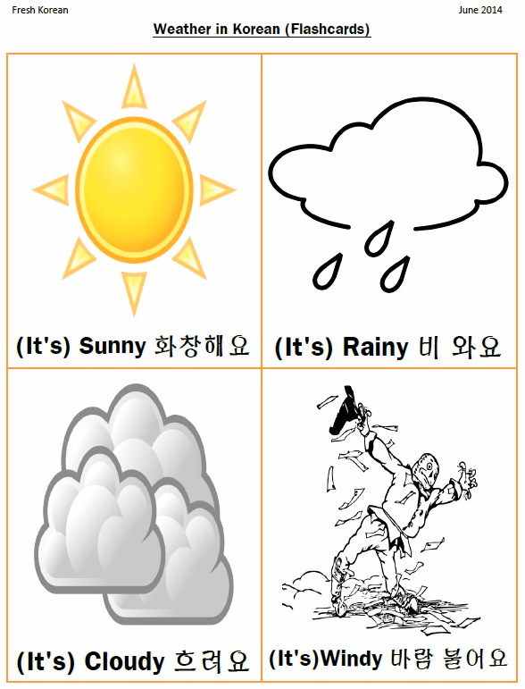 Weather Korean Flashcards
