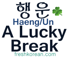 A Lucky Break  - Fresh Korean