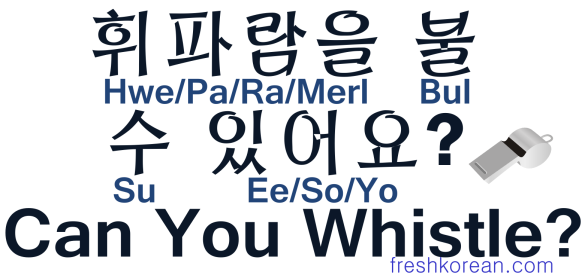 Can You Whistle - Fresh Korean
