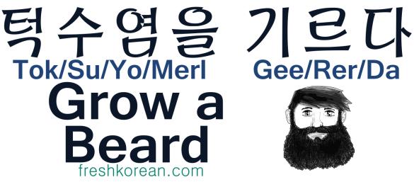 Grow a Beard  - Fresh Korean