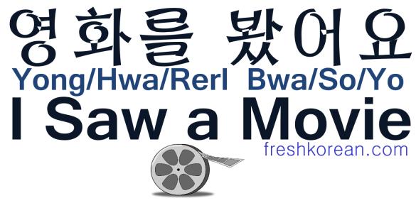 I Saw a Movie - Fresh Korean