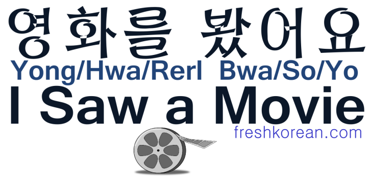 I Saw a Movie - Fresh Korean