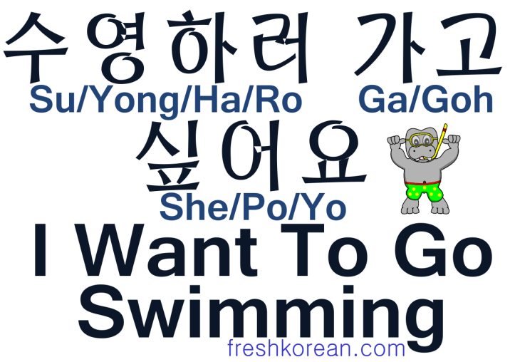 I Want To Go Swimming - Fresh Korean