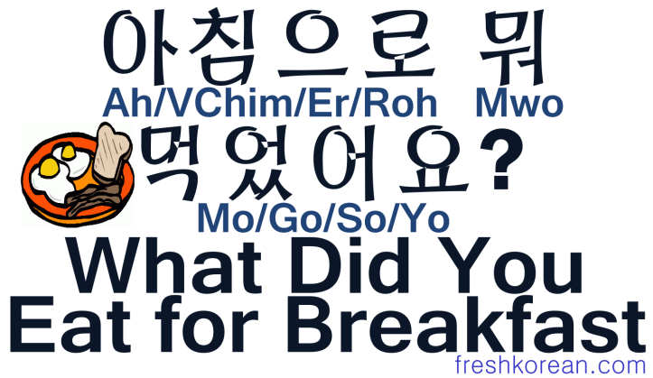 What Did You Eat For Breakfast - Fresh Korean