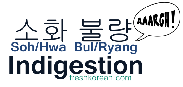 Indigestion - Fresh Korean Phrase Card