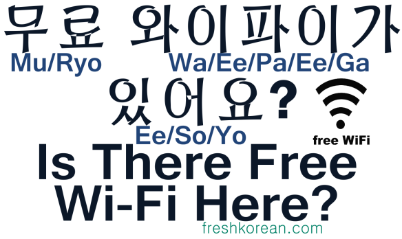 Is there free wi-fi here - Fresh Korean