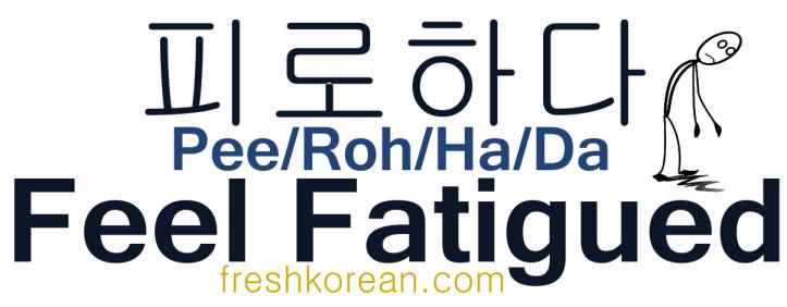 Feel Fatigued - Fresh Korean Phrase Card