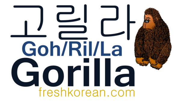 Gorilla - Fresh Korean Phrase Card