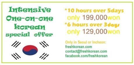 intensive korean lessons Seoul Incheon April 2015