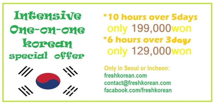intensive korean lessons Seoul Incheon April 2015