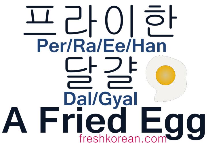 A Fried Egg - Fresh Korean Phrase Card