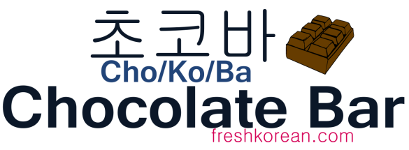 Chocolate Bar - Fresh Korean Phrase Card