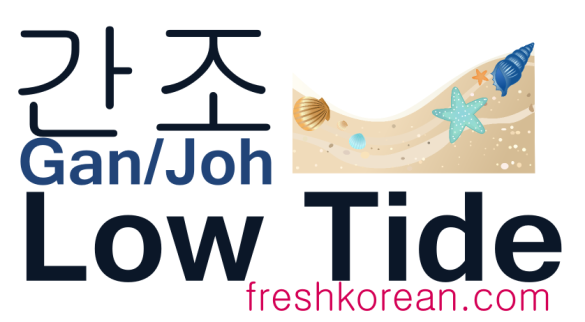Low Tide - Fresh Korean Phrase Card