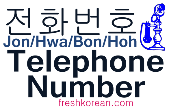 Telephone Number - Fresh Korean Phrase Card