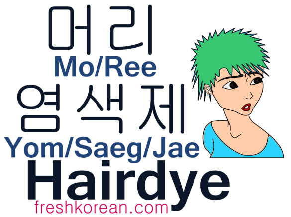 Hairdye - Fresh Korean Phrase Card
