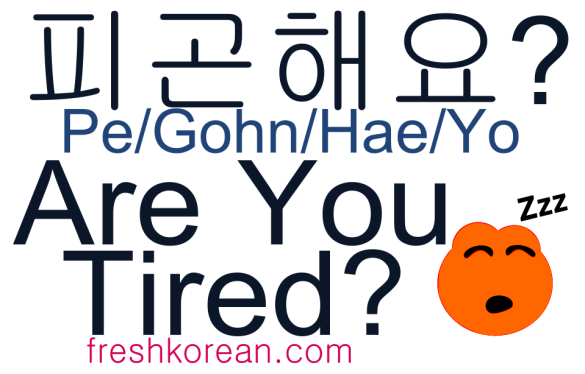 Are You Tired - Fresh Korean Phrase Card