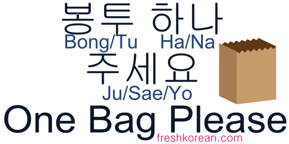 One Bag Please - Fresh Korean Phrase Card