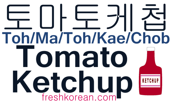Tomato Ketchup - Fresh Korean Phrase Card
