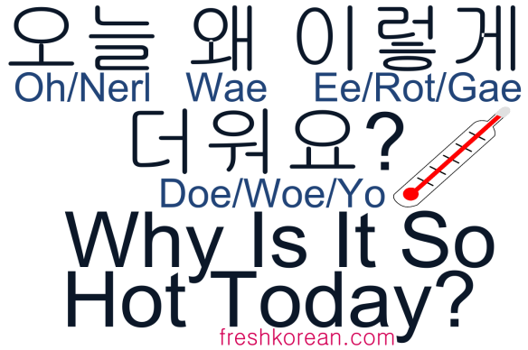 Why is it So Hot Today - Fresh Korean Phrase Card